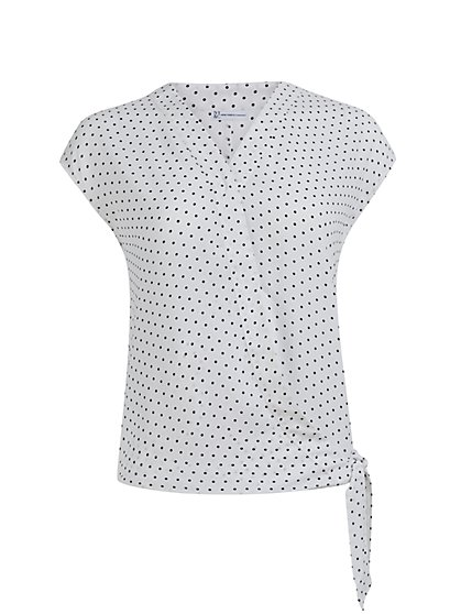 Dot-Print Wrap Shirt - New York & Company