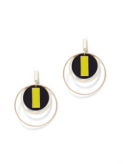 Double Hoop-Drop Earring - New York & Company