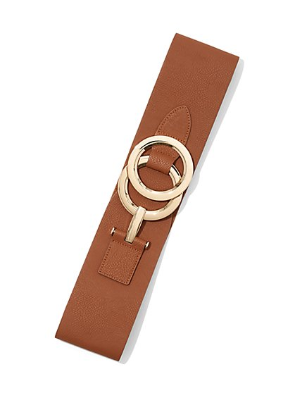 Double O-Ring Stretch Belt - New York & Company