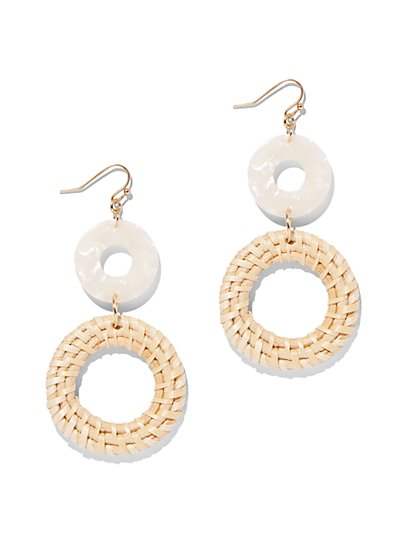 Double Open-Circle Drop Earring - New York & Company