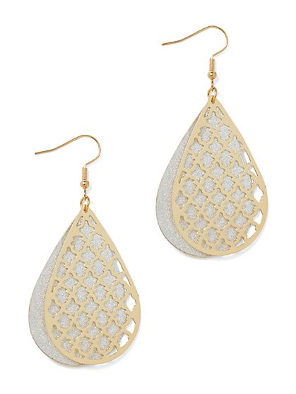Double-Petal Lace Earring - New York & Company
