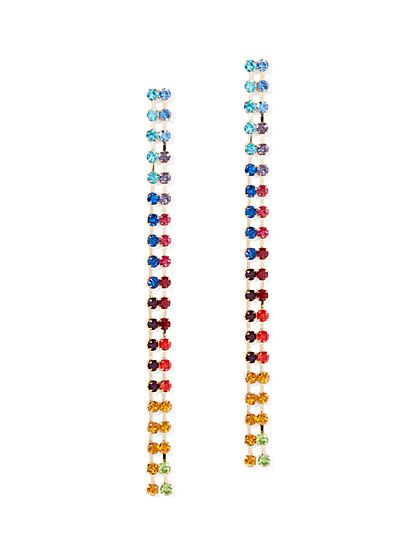 Double-Row Linear Drop Earring - New York & Company