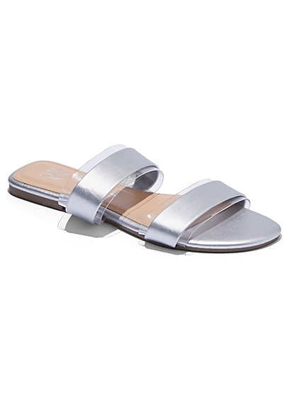 Double-Strap Slide Sandal - New York & Company