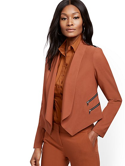 Double-Zip Accent Jacket - 7th Avenue - New York & Company