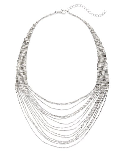 Draped Chain Bib Necklace - New York & Company