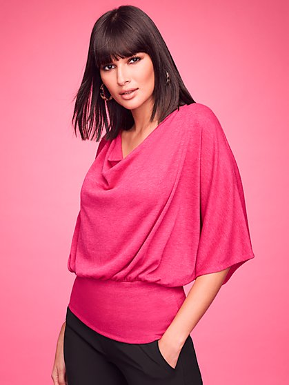 Draped-Neck Top - Sweet Pea - New York & Company