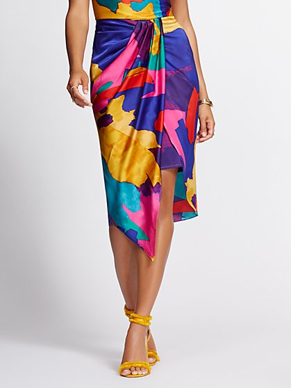 Draped Overlay Pencil Skirt - Gabrielle Union Collection - New York & Company