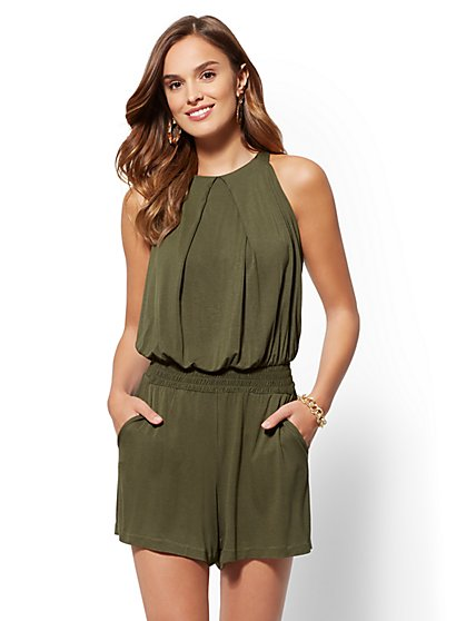 Draped Romper - New York & Company