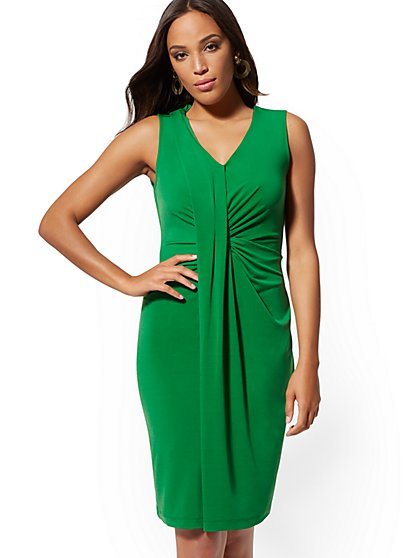 Draped Sheath Dress - New York & Company