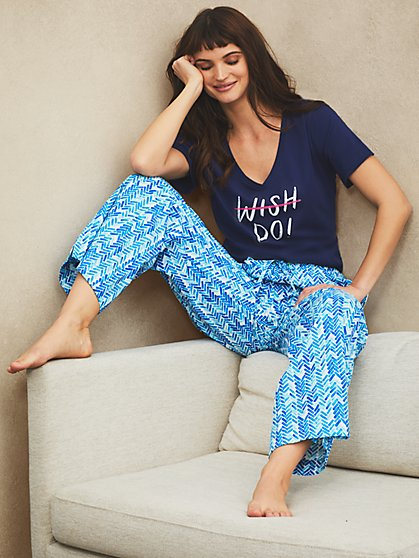 Dreamers & Doers Cotton PJ Pant - New York & Company