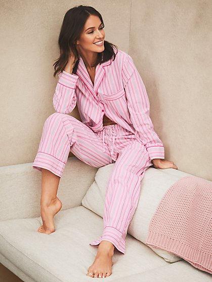 Dreamers & Doers Cotton PJ Set - New York & Company