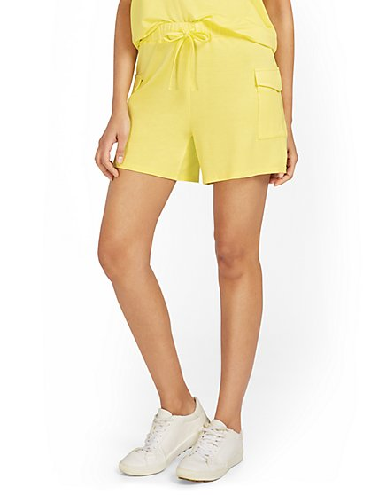 Dreamy French Terry Cargo Short - New York & Company