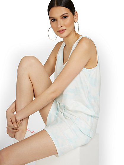 Dreamy French Terry Tie-Dye Cargo Short - New York & Company