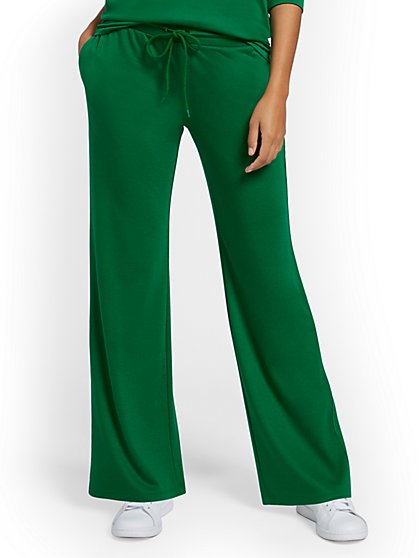 Dreamy French Terry Wide-Leg Pant - New York & Company