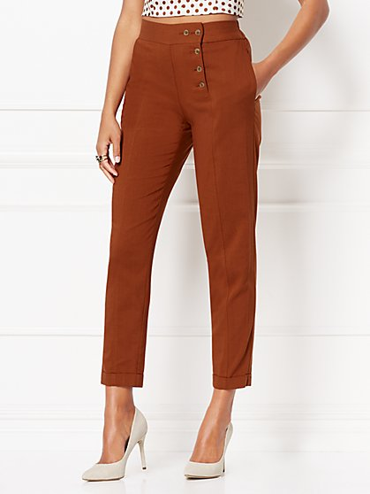 Drew Linen Jogger Pant - Eva Mendes Collection - New York & Company