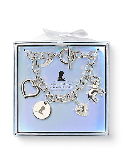 Elephant & Heart Charm Bracelet - St. Jude Collection - New York & Company