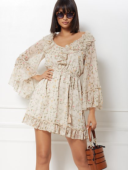 Ellyn Ruffled Flare Dress - Eva Mendes Collection - New York & Company