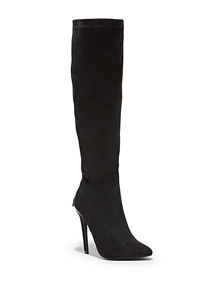 Embellished-Heel Tall Dress Boot - New York & Company