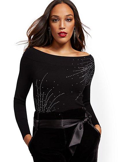 Embellished Sweater - New York & Company