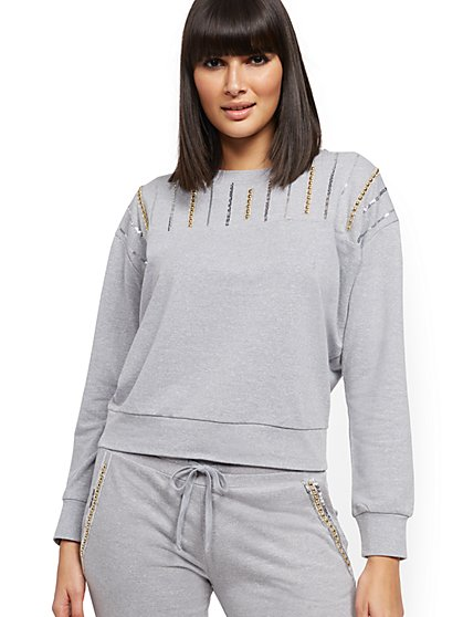 Embellished Sweatshirt - Soho Street - New York & Company