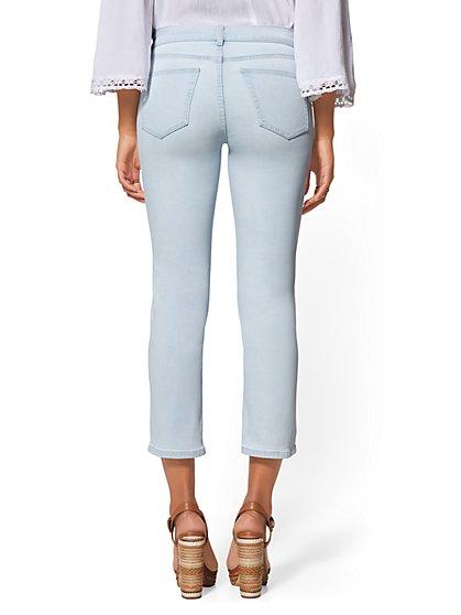 564dd22f37f ... Embroidered Crop Straight Leg Jeans - Indigo - Soho Jeans - New York    Company ...
