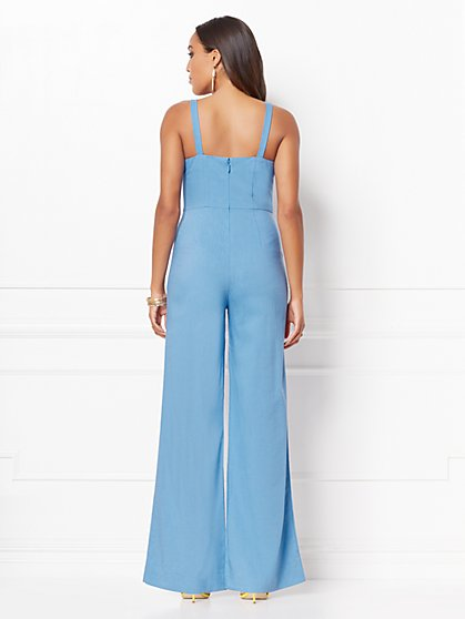 87bd0ce8ff4 ... Emmie Button-Front Linen Jumpsuit - Eva Mendes Collection - New York    Company
