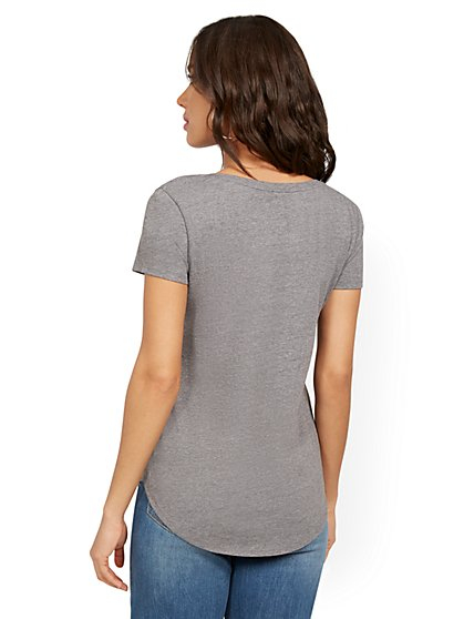 5ac72b5027d7 ... Essential Cotton-Blend Tee - New York & Company ...
