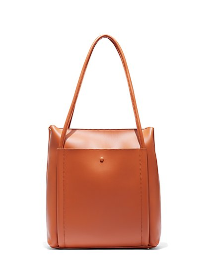 Eva Mendes Collection Camel Tote Bag New York Company