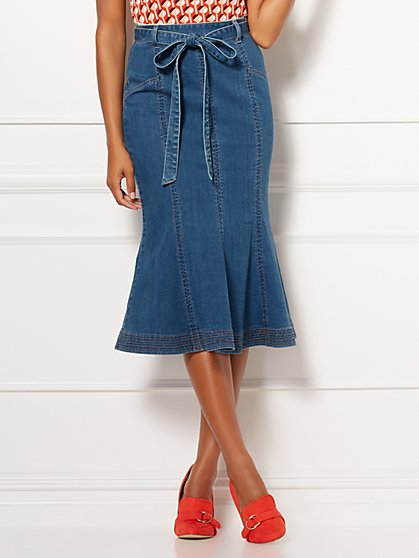 Eva Mendes Collection - Claudine Denim Skirt - New York & Company