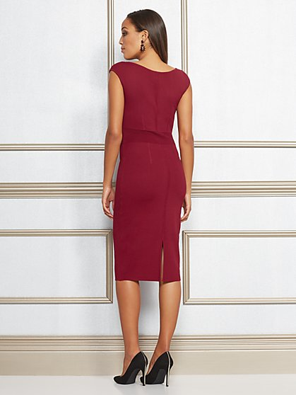 Eva Mendes Collection Dascha V Neck Sweater Dress New York Company