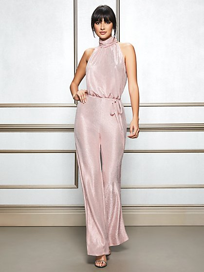 Eva Mendes Collection - Eleni Mock-Neck Jumpsuit - New York & Company