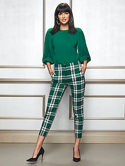 Eva Mendes Collection - Elise Plaid Pant - New York & Company