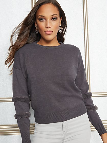 Eva Mendes Collection - Grey Blanca Sweater - New York & Company