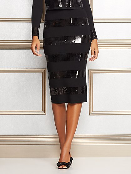 Eva Mendes Collection - Jacqui Sequin Sweater Skirt - New York & Company