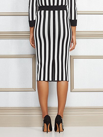 Eva Mendes Collection Jacqui Stripe Sweater Skirt New York Company