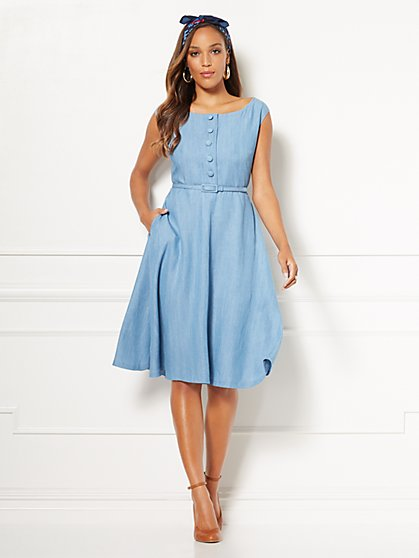 Eva Mendes Collection - Janet Fit and Flare Dress - New York & Company