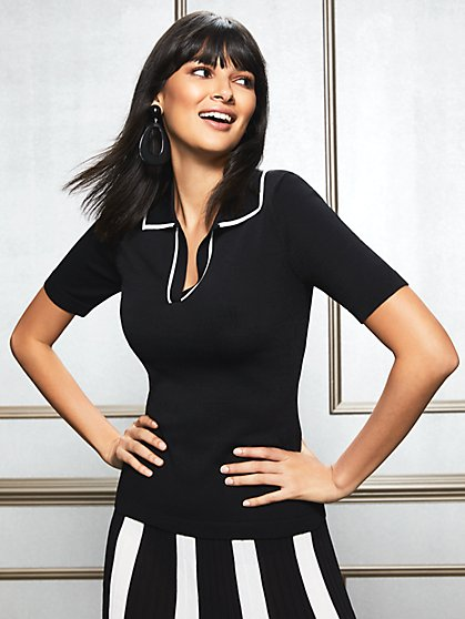 Eva Mendes Collection - Karla Tipped Sweater - New York & Company
