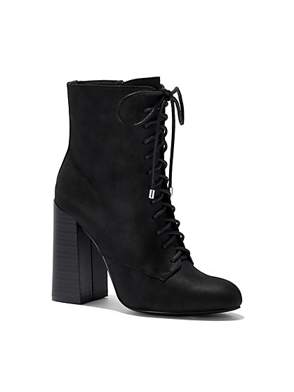 Eva Mendes Collection - Lace-Up Bootie - New York & Company