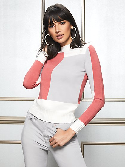 Eva Mendes Collection - Lindsay Colorblock Sweater - New York & Company