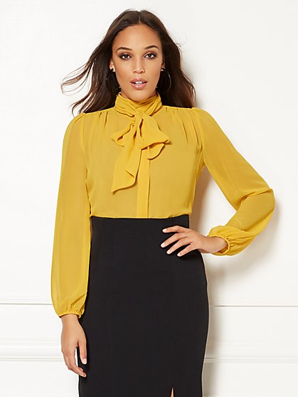 Eva Mendes Collection - Linnea Bow Blouse - New York & Company