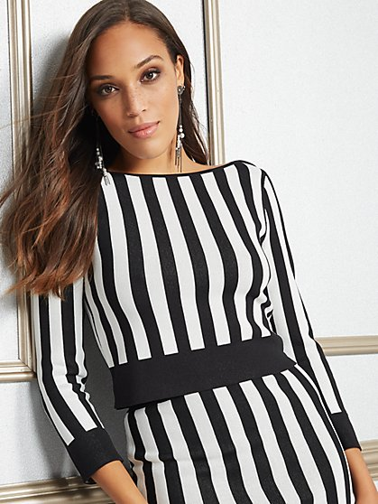 Eva Mendes Collection - Marcy Stripe Sweater - New York & Company