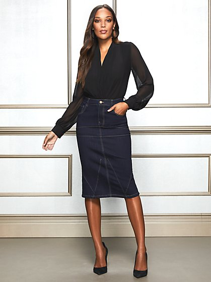 Eva Mendes Collection - Margie Denim Skirt - New York & Company