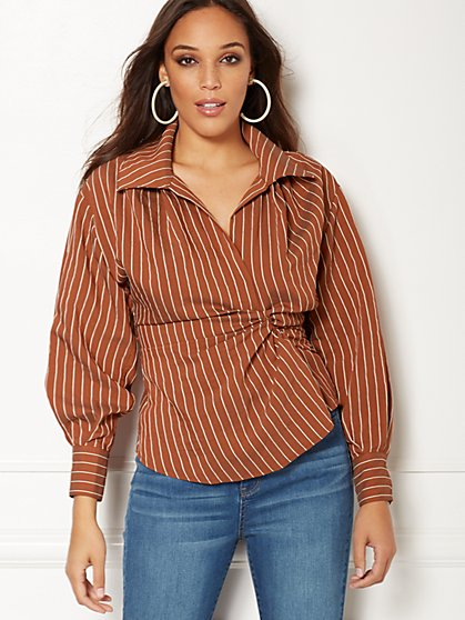 Eva Mendes Collection - Nikki Stripe Shirt - New York & Company