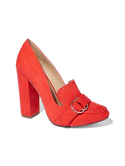Eva Mendes Collection - Orange High-Heel Loafer - New York & Company