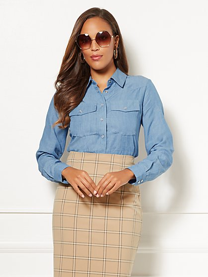 Eva Mendes Collection - Petite Demi Shirt - New York & Company