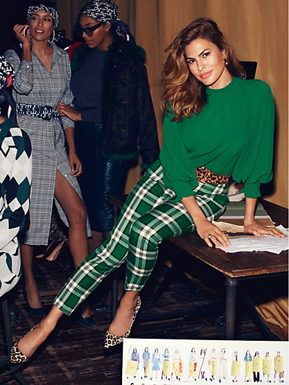Eva Mendes Collection - Petite Green Laila Blouse - New York & Company