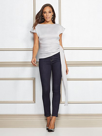 Eva Mendes Collection - Petite Katelyn Blouse - New York & Company