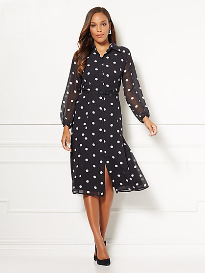 Eva Mendes Collection - Pia Dot-Print Shirtdress - New York & Company