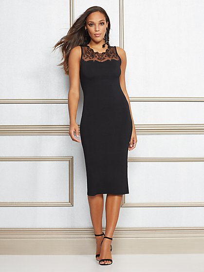 Eva Mendes Collection - Roxanne Lace-Trim Sheath Dress - New York & Company