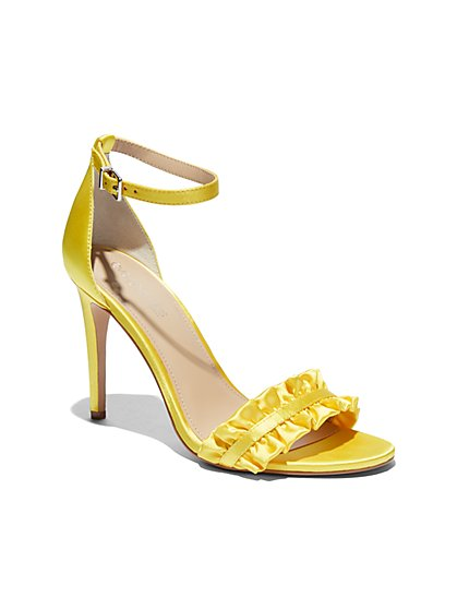 Eva Mendes Collection - Ruffled Ankle-Strap Sandal - New York & Company
